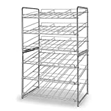 Simple Trending 2 Pack Can Rack Organizer, Stackable Can Storage Dispenser Holds up to 72 Cans for Kitchen Cabinet or Pantry, Chrome