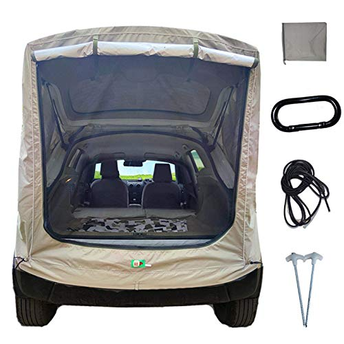 Car Truck Tent, SUV Universal Self-Driving Car Tail Extension Tent Portable Rainproof Sun Protection...