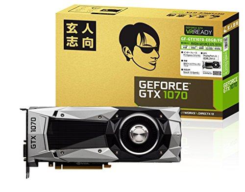 玄人志向 ビデオカードGEFORCE GTX 1070搭載 GF-GTX1070-E8GB/FE