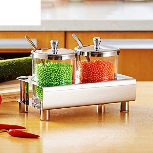 Europäische kreative Edelstahl Spice Box IKEA Küche Spice Jar Kreative Salzstreuer-Set-A