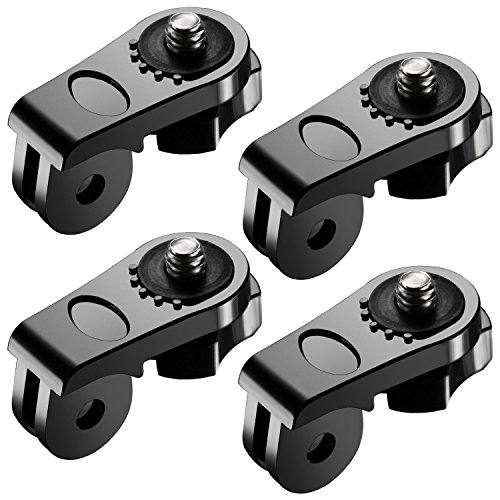 Neewer Universal Conversion Adapter (1/4 Inch 20) Mini Tripod Screw Mount Fixing GoPro 5 6 7Accessories to Sony Olympus DJI OSMO Action and Other Action Cameras(4 Pack)