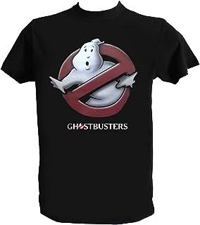 Desconocido Camiseta Ghostbusters Hombre Niño Negra Cazafantasmas Peliculas Clasicas Años 80