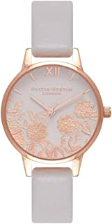 Olivia Burton Womens Quartz Watch, Analog Display and Leather Strap OB16MV69