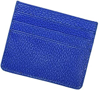Women's Mini Genuine Leather Solid Color Contracted Short Multi - Card Creative Wallet for Girls JJXSHLFLL (Color : Blue)