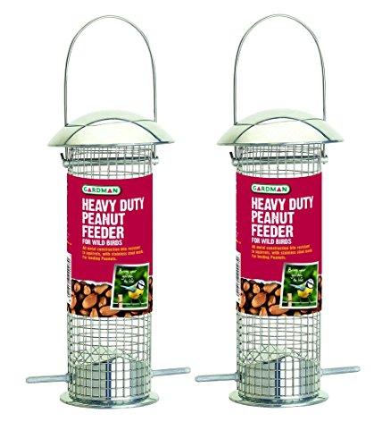 Set 2 x Gardman Strapazierfähige und Erdnuss Vogelfutterstation