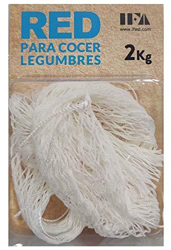 IFA Malla para Garbanzos Grande, Nylon Alimentario, Blanco, 21x9.5x3 cm