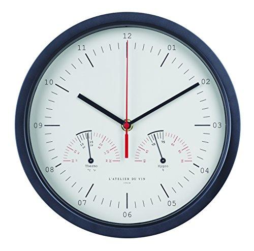 L'ATELIER DU VIN – Horloge Hygro-Thermo – Mesurer la Température et l'Humidité de Votre Cave – Pile AAA Incluse