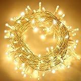 ANKOUJA Lichterkette LED Innen Außen Warmweiß 100er Verbindlich & Memroyfunktion für Weihnachten...