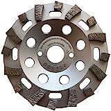 LXDIAMOND Diamant-Schleiftopf 125 mm x 22,23 mm Profi Topfschleifer Schleifteller für harte Baustoffe Beton Epoxid Fliesenkleber Estrich Universal 125mm