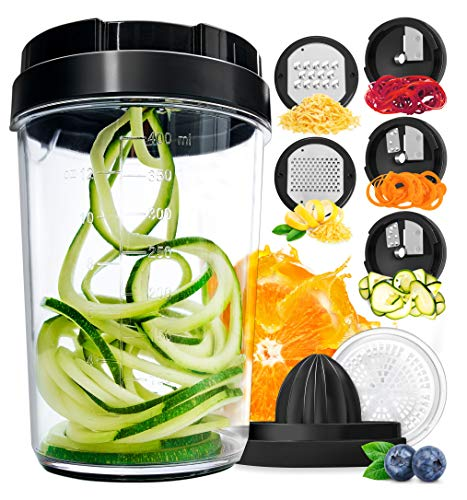 Fullstar Vegetable Spiralizer Vegetable Slicer - 8-in-1 Zucchini Spaghetti Maker Zoodle Maker Veggie...