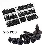 Screw Assortment Kit,215 pcs Self Tapping Screw DIY Cross Wood Screw Hardware Mechanical Fastening Tools Small Screw Parts