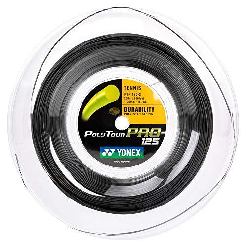 YONEX - Polytour Pro 125 200mts Cordaje Tenis, Color Grafito
