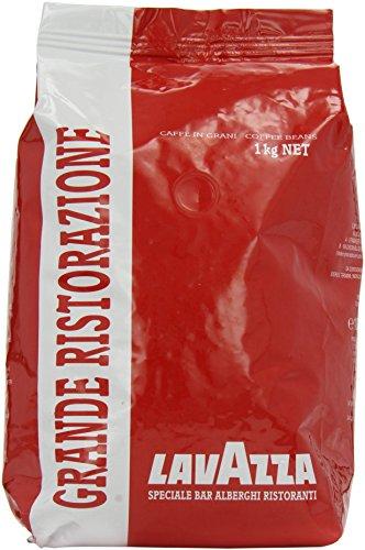 Lavazza Kaffee Grande Ristorazione Rossa, ganze Kaffee Bohnen für Kaffeevollautomaten, Bohnenkaffee, 1000g