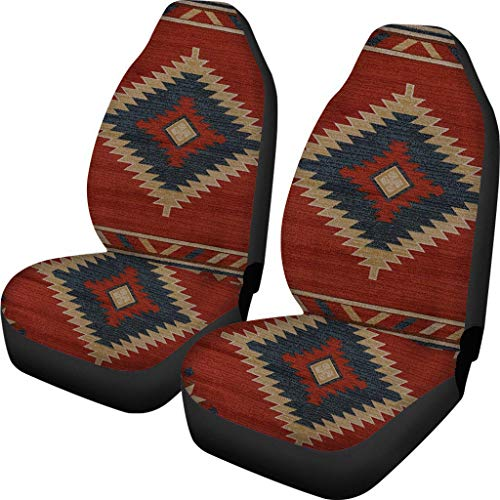 SEANATIVE Car Seat Covers Aztec Native Pattern Navajo African Tribal Peru Ethnic Set of 2 Auto Accessories Protectors Car Decor Universal Fit for Car Truck SUV