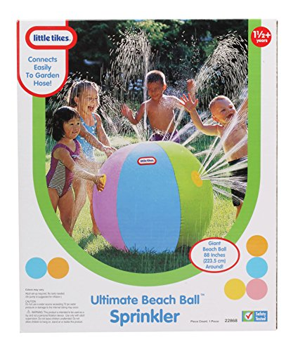 Little Tikes Beach Ball Sprinkler Game for Toddlers in the Backyard