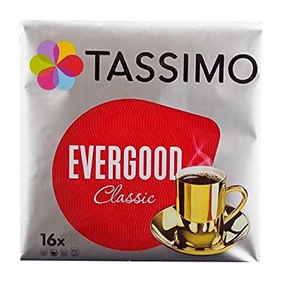 TASSIMO Evergood Classic Coffee Capsules Pods T-Discs 16 Portions