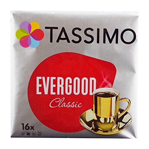 Tassimo Evergood Classic, Kaffee, Gemahlener Röstkaffee, Kaffeekapsel, T-Disc, 16 Portionen