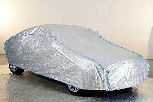 Kley & Partner Auto Abdeckung Vollgarage atmungsaktiv extrem leicht kompatibel mit Volkswagen VW Caddy Life in Silber exklusiv in Tyvek