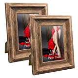 Calenzana 3.5 x 5 Picture Frames Rustic Distressed Photo Frame, Wall and Tabletop, Brown, 2 Pack