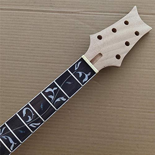 chushi Inocentón Caoba 22 Trastes De Guitarra Eléctrica con Cuello De Palisandro con Diapasón De Rosado Incrustaciones 24.75 Pulgadas Zzib