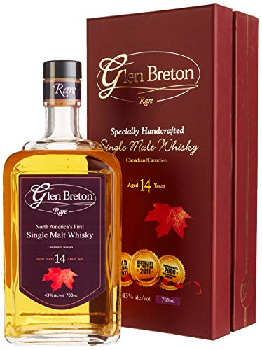 Glen Breton Rare 14 Years Old Canada's First Single Malt Whisky mit Geschenkverpackung  (1 x 0.7 l)