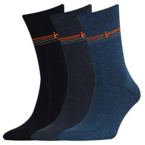Sympatico 43061 Herren Socken 3er Pack lässiger Denim-Style elastische Bündchen, Groesse 43/46, 3x denim