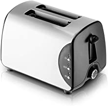 Toaster 2 Slice Stainless Steel Automatic Toaster, 5 Shade Settings, Ultra-wide Slot Toaster, Double-sided Baking, Defrost...