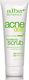 Alba Botanica Acnedote Face & Body Scrub, Maximum Strength 8 oz ( Pack of 3)