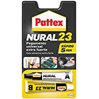 Pattex Nural 23 Pegamento universal extra fuerte, adhesivo para múltiples materiales, resistente a agua, aceite, disolventes y más, 2 x 11 ml