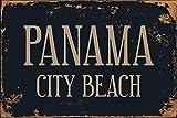 TTMMBB - Cartel de metal retro con diseño de ciudad de Panamá Beach es adecuado para cafetería, restaurante, sala de billar, hotel, club, decoración de pared, 30,5 x 20,3 cm