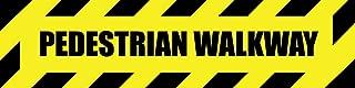 Pedestrian Walkway Yellow Anti-Slip Floor Sticker Decal 17 in Longest Side