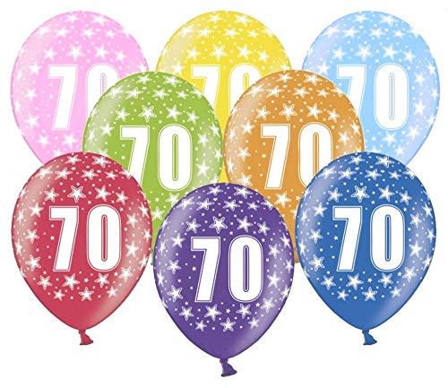 Libetui 10 Luftballons Nummer 70 kunterbunte Ballons 30cm Deko zum 70. Geburtstag Mann 70 Geburtstag Frau Dekoration 70 Jahre