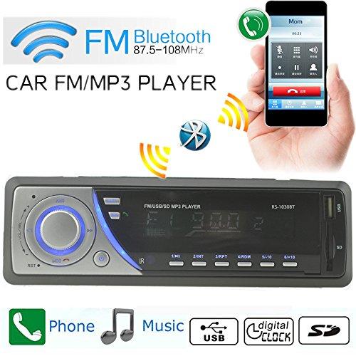 Boomboost Car Radio Stéréo Bluetooth FM téléphone in/EQ/Horloge/Télécommande MP3 / USB/SD/AUX