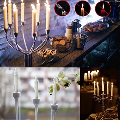 Wenhe Velas electrónicas LED Taper Candles para Navidad, Día de la Madre, al aire libre, San Valentín, fiestas de cumpleaños