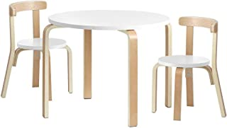 Keezi Kids Table and Chairs Set Children Play Desk Wooden 3PCS Set Kids Activity Table And Chairs Toy Play Desk Children F...