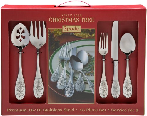 Spode Christmas Tree 45-Piece Flatware Set: Kitchen & Dining
