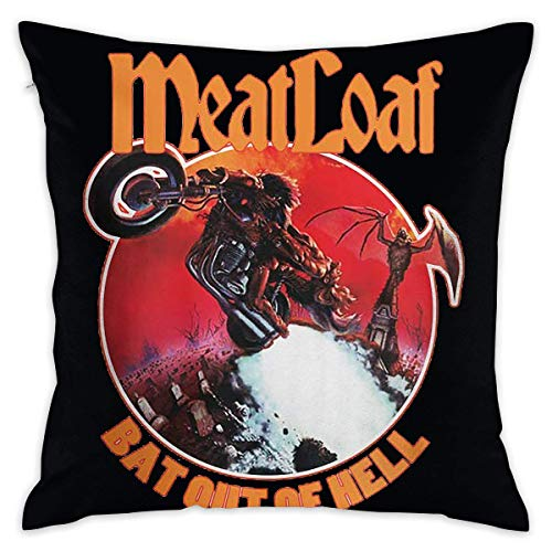 call Velvet Decorative Throw Pillows Covers Cases for Couch Bed Sofa - Soft Pillowcases, Meat Loaf Band Bat Out of Hell Kissenbezüge 22x22Inch(55cmx55cm)