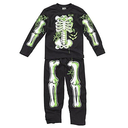 Bedlam Palo de Golf para niños de Noche de Brujas de Esqueleto y Calabazas de Pijama Brilla en la Oscuridad