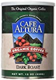 Cafe Altura Organic Coffee, Dark Roast, Ground Coffee 12 Ounce Can (Pack Of 2)