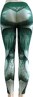 Sanwooden Comfortable Yoga Pants Sports Women Muscle Structure Print Leggings High Waist Yoga Pants Long Trousers Pants
