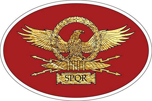 Akachafactory Sticker Aufkleber Nationalitätenkennzeichen Flagge Fahne Roma SPQR