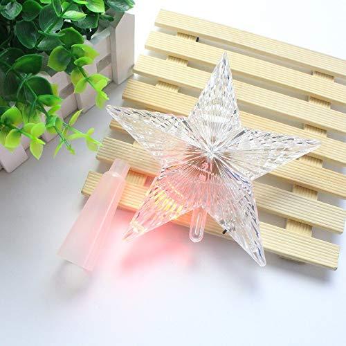 Boom Toppers - 3 Maten Kerstboom Pers Star Lights Ornament Kerstmis Decoratie Bruiloft Tuin Vakantie DIY - Verlichte Kleine Decoraties Boom Kerst Schoenen Bomen Ster Taart 22cm