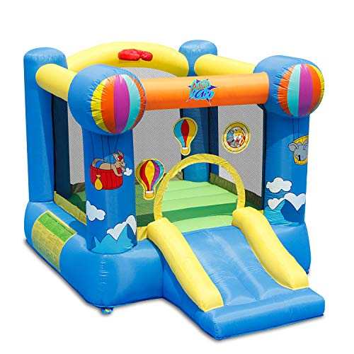 ACTION AIR Bounce House, Inflatable Bouncer with Air Blower, Jumping Castle with Slide, for Outdoor...