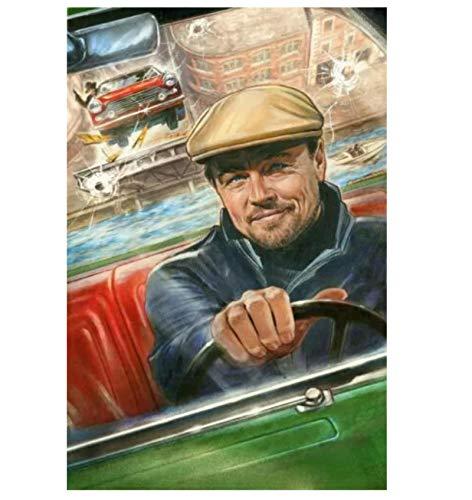 Once in Hollywood Rick Dalton Leonardo Di Caprio Impresión de la película en Lienzo Póster de Arte Imágenes Imágenes de laSala Decoración del hogar 50x75cm Marco Interior de Madera