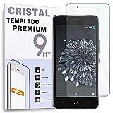 REY Protector de Pantalla para BQ X5 y X5 Cyanogen Cristal Vidrio Templado Premium