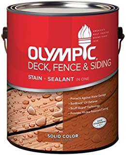Olympic 53208A-01 Gallon Russet Deck Fence & Siding Stain