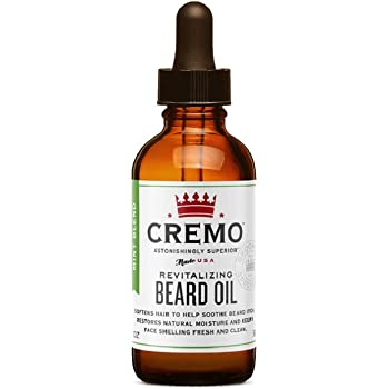 Cremo Mint Blend Revitalizing Beard Oil, Restores Moisture, Softens and Reduces Beard Itch for Facial Hair of All Lengths, 1 Oz
