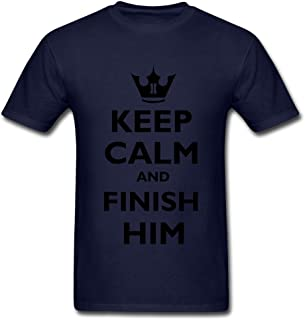 Bangie Cost Efficient Keep Calm and Finish him Men's T Shirt