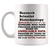 DKISEE - Tazza da caffè divertente per scienziati di ricerca e biotecnologia, idea regalo per uomini e donne, tazze da 311,8 g