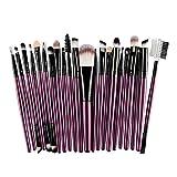 22 Pcs Makeup Brush Tools Beauty Toiletry Kit Artificial Fur Make Up Meyerlbama (S, Purple)